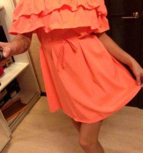 Новое платье с валанами