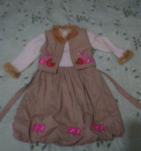 Платье детское утепленное