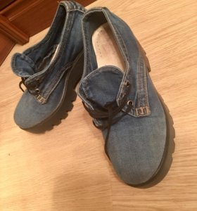 Ботинки джинс 36 размер