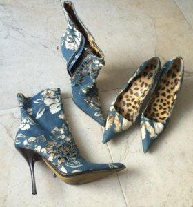 Roberto Cavalli оригинал сапоги и туфли