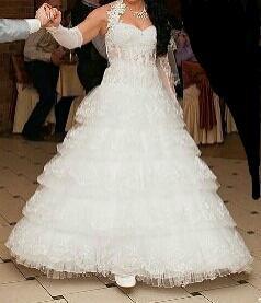 Свадебное платье,шубка,перчатки,обруч
