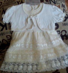 Детское платье с косынкой