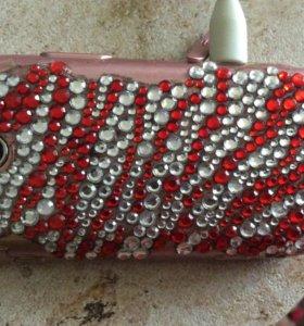 Смартфон телефон Самсунг розовый mini