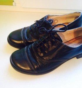 Ботинки кожа!