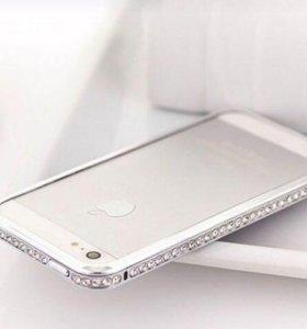 Роскошный бампер со стразами iPhone 5 5S SE новый