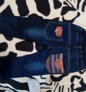 Детские джинсы утеплённые