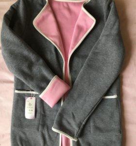 Куртка трикотаж, пиджак, жакет, трикотажное пальто