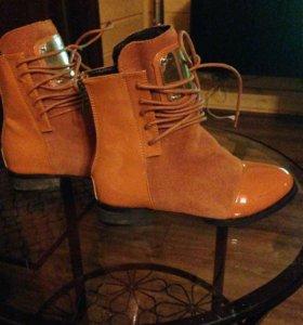 Новые Ботиночки для девочки. Размер 35