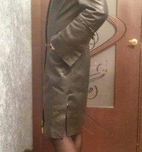 Пальто кожаное(натуральная)