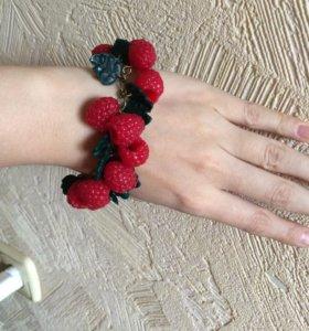 Ягодные и цветочные браслеты из полимерной глины