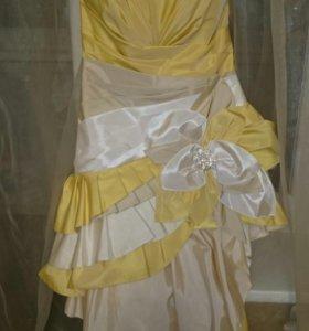 Платье коктейльное ассиметричное р. 46
