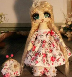 куколка-кошечка 38 см