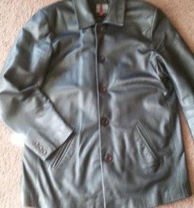 Куртка-пиджак кожаная мужская