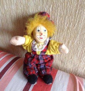 Интерьерная игрушка клоун 15 см. Европа.