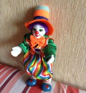 Яркий интерьерный клоун Европа 21 см