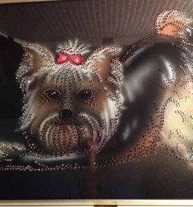 Картина с кристаллами Svarovski