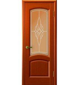 """Межкомнатная дверь """"Лаура"""", по, темный анегри"""