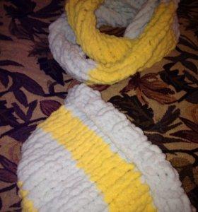 Набор (шапка шарф)