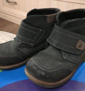 Ботинки кожаные на шерстяной подкладке