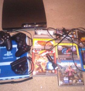 PS3 (2 геймпада,камера)