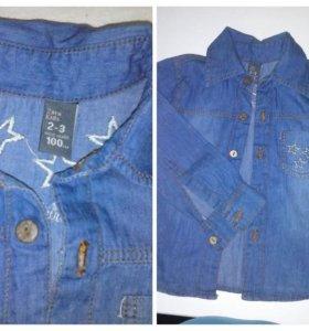 Детская джинсов рубашка Sara Kids
