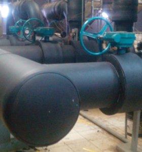 Монтаж изоляции труб горячего и холодного водоснаб