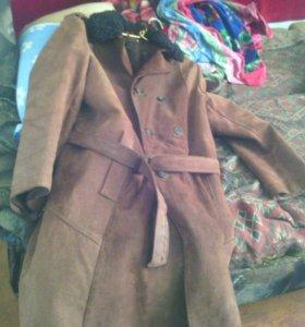 Дубленка пальто замш