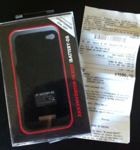 Чехол аккумулятор на iPhone 4