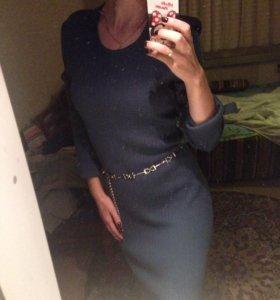 Теплое платье в пол