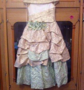 Платье на новый год, 3-4 класс.