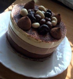 """Нежнейший торт """"Три шоколада"""""""