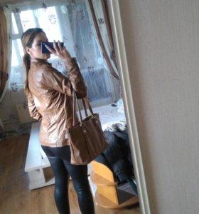 Куртка Ostin+сумкаRedmond+перчатки коричневые