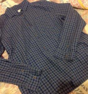 Рубашки Reserved в клетку р.42-44