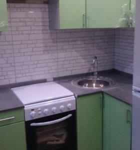 Кухня.МДФ Салатовый металлов.