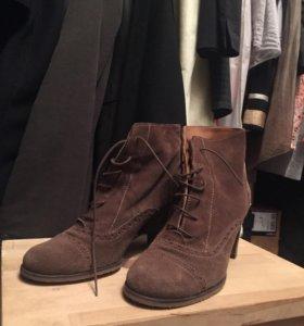 Ботинки замшевые на каблуке Aura Blanc