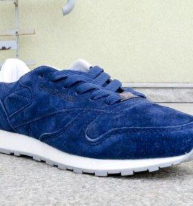 Reebok Leather Suede (синии) - новые с доставкой