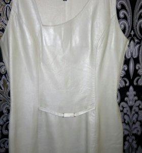 Платье из нат.кожи etxe