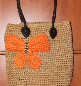 Новая сумка из натуральной соломки