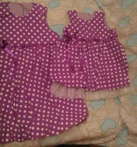 Платья сестричкам