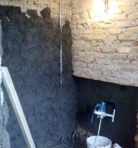 Стяжки, штукатурки,бетонирование(фундамент)...