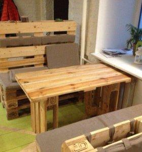 Столы и диваны из паллет