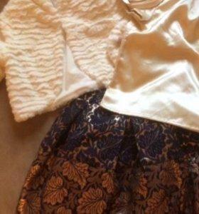Юбка, блузка, болеро для девочки