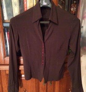 Блузка коричневая 42-44