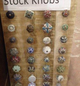 Мебельные ручки из керамики