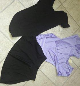 2 купальника и юбка д/танцев