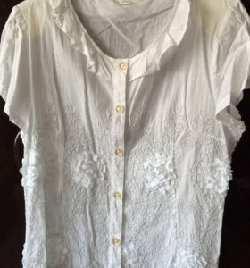 Нарядная блузка хлопок (новая) 50-52 размера