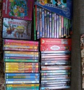 Детские мультфильмы и развивайки на дисках
