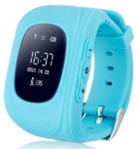 Голубые детские часы с GPS Smsrt Baby Watch Q50