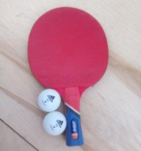 Ракетка для пинг-понга + 2 шарика в подарок