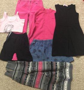 Пакет тёплых вещей на девочку 122-130